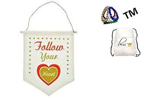 POG Wandhängende Tür Klassenzimmer Dekoration Happy Valentinstag Valentinstag Valentinstag Follow Your Heart (Bonus Exclusive Porte Frided-TM) Geschenk-Set Geburtstag für Sie