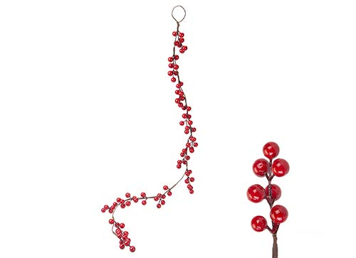 Toyland 90cm (35 inches) Red Berry Garland - Christmas Decoration - Home Decoration