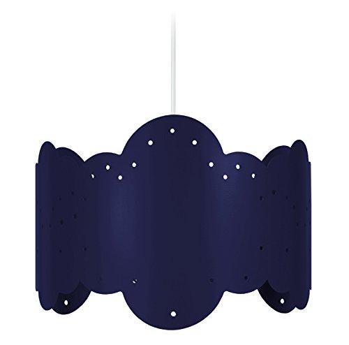 Tosel 17326 Suspension 1 Lumière, Acier, E27, 40 W, Bleu, 30 x 90 cm