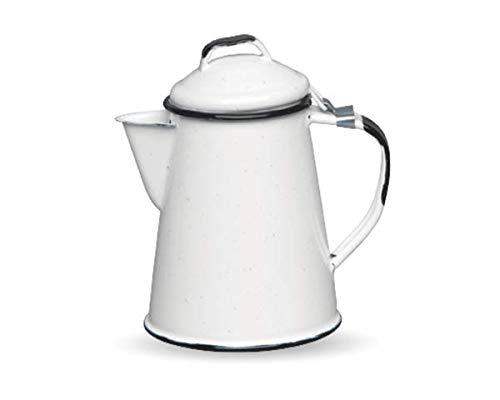 CINSA-315599-Cafetera de acero esmaltado, 2 tazas, color blanco