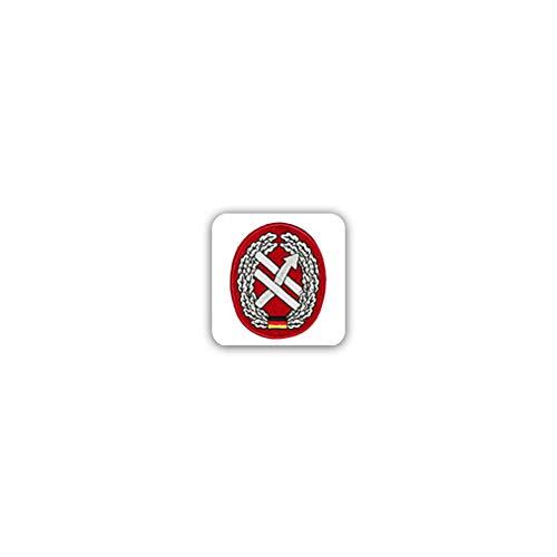 Stickers/sticker barettabzeichen PSV OpInfo strijdkrachten basis Heer 7x7cm A2467