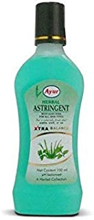 (Pack Of 2) AYUR HERBAL ASTRINGENT WITH ALOE VERA FOR ALL SKIN TYPES XTRA BALANCE 100ml New