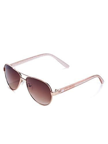 GUESS Factory Kid's Girl's Glitter Aviator Sunglasses