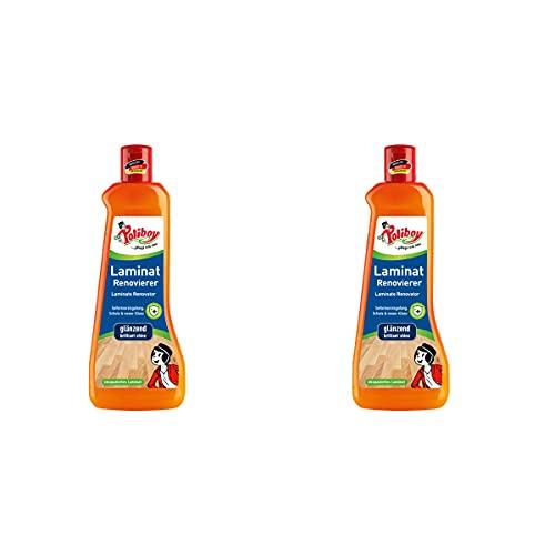 Poliboy - Laminat Renovierer - Sofort Versiegelung - lang anhaltenden Glanz und Schutz - Bodenreinigung - 2er Pack - 2x500ml (1 Liter) - Made in Germany