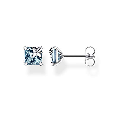 Thomas Sabo Women's Stud Earrings Blue Stone with Star 925 Sterling Silver