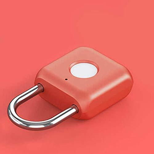 Sgxiyue Candado de la Puerta de la Puerta de la Huella Digital Inteligente Cargado USB Cargo ANTIBLO Anti Travel DE Tiempo Caja DE Seguridad DE Caja DE Seguridad (Color : Blue)