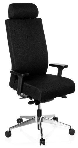 hjh OFFICE Bürostuhl/Drehstuhl PRO-TEC XXL Vollpolster schwarz
