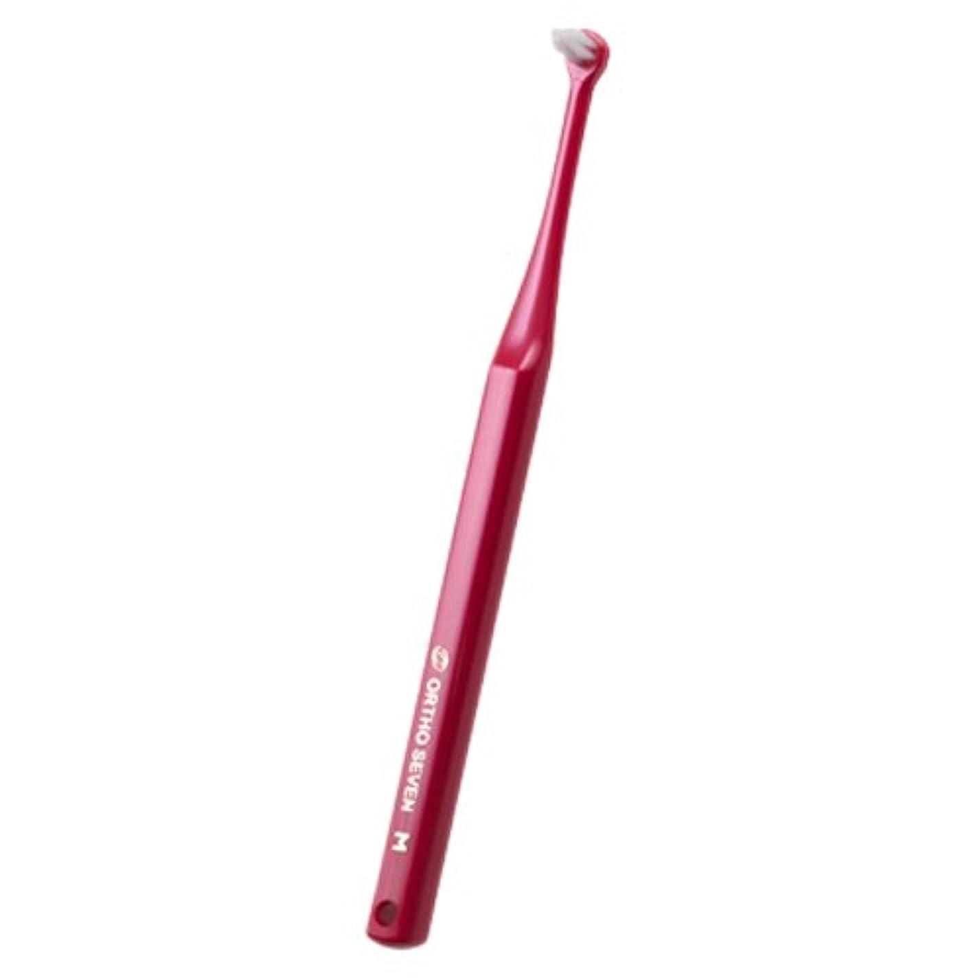 醸造所安心させるスノーケルオーラルケア ORTHOSEVEN オーソセブン 歯ブラシ 1本 パールレッド