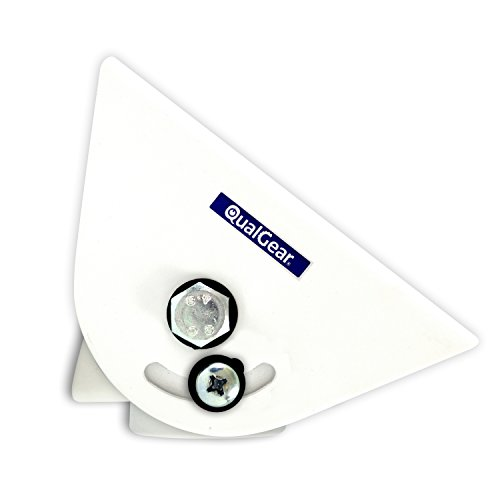 """QualGear QG-PRO-PM-VCA-W Pro-AV Suspended Ceiling Adapter for 1.5"""", 6"""" X2', Adjustable Projector Accessory"""