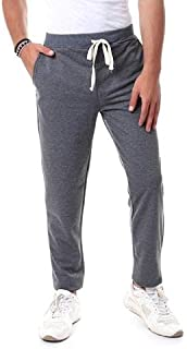 Off Cliff Side Pocket Elastic Waist Drawstring Cotton Sweatpants for Men - Heather Dark Grey, XXL