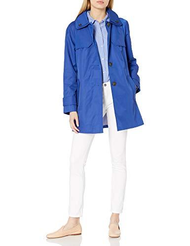 LONDON FOG Women's Plus Size Button Front Topper Jacket, Neptune, 2X