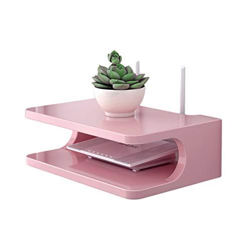 Étagère De Routeur Sans Fil Rose Murale - Home Salon Étagère De Rangement Créative Set-top Box TV Étagère Murale (Couleur : Pink)