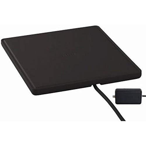 RCA ANT1450BE Indoor TV Antenna - 55 Mile Range, Omni-Directional Flat Digital TV Antenna, Amplified