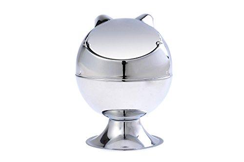 The Khan Outdoor & Lifestyle Company Quantum Abacus Stylischer Windaschenbecher aus Zinklegierung, in Form Einer Katze, poliertes Metall, Mod. 779A (DE)