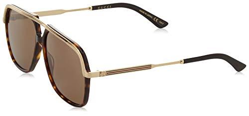 Gucci Unisex-Erwachsene GG0200S 002 Sonnenbrille, Braun (2/Brown), 57