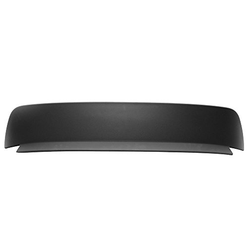 Roof Spoiler Compatible With 1992-1995 Honda Civic 3 Door Hatchback BYS Style Unpainted Black Rear Boot Deck Lid Roof Wing Replacement by IKONMOTORSPORTS, 1993 1994