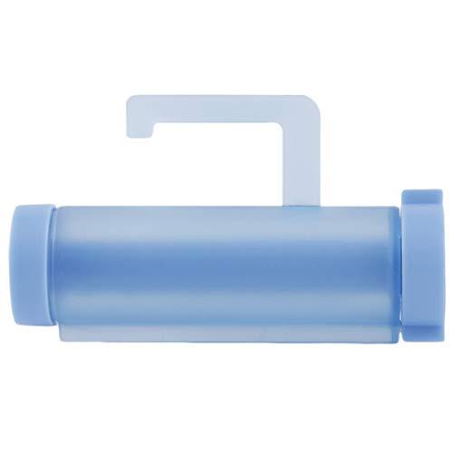 DDyna Exprimidor de Pasta de Dientes fácil de plástico Enrollable Dispositivo de fijación de artilugios de baño Gancho de Socio de Pasta de Dientes con Ventosa Azul - Azul