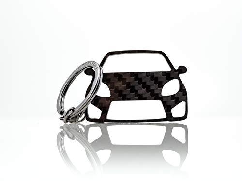 BlackStuff Porte-Clés En Fibre De Carbone Compatible Avec Twingo II RS 2007-2014 Voiture