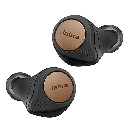 Jabra Elite Active 75t Amazon Edition Écouteurs sport sans fil avec réduction active du bruit et autonomie élevée de la batterie pour appels et musique – Noir Cuivre