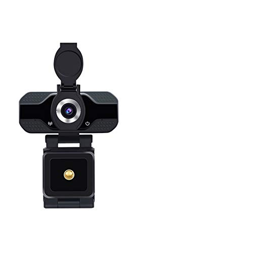 Webcams Telefonía VoIP Cámara Web Inteligente de Micrófono Smart Micrófono de 1080P Smart Micrófono para computadora portátiles de Escritorio PC Game CAM para OS Windows Linux (Color : Black)