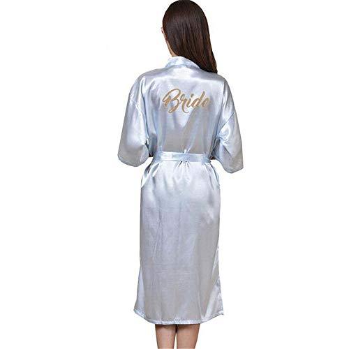 ZSDGY Traje Largo de Chaqueta de Punto para Mujer/Conjunto de Pijamas Finos para Mujer/Vestidos Largos de mañana Estampados H-M