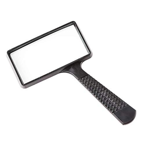 LUISONG FANMENGY Lupe 10 Mal Lesebrille, High-Definition rechteckige Glashand Glas-Lesezeitung Sonder älterer Spiegel