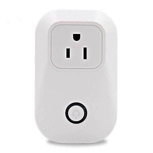 GZCRDZ US stopcontact, US stopcontact, WLAN stopcontact, aan/uit met IOS/Android afstandsbediening Wit.