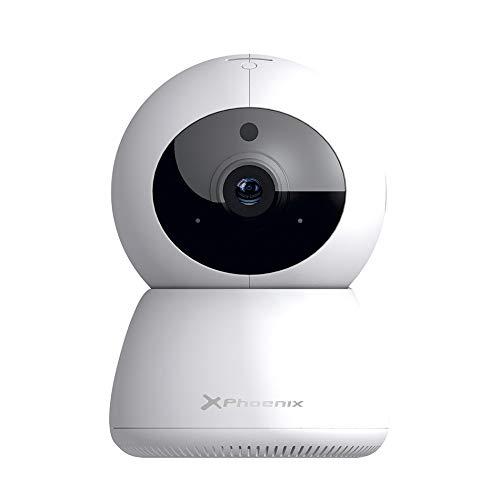Phoenix technologies - Cámara de Vigilancia Exterior WIFI Full HD 1080p con Visión Nocturna, IR LED, Detección de movimiento, Altavoz y Micrófono, IP66