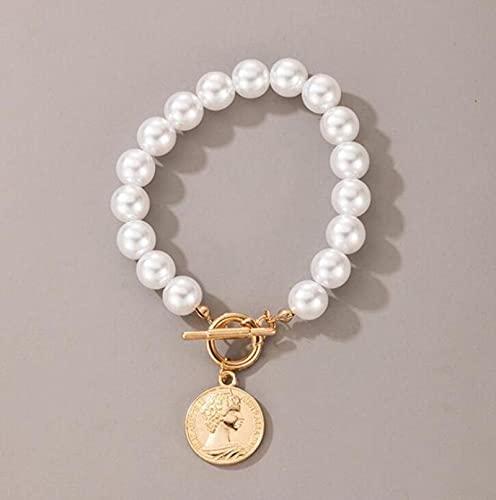 TTGE Collar con Colgante de Concha de Piedra de Perlas de Lujo para Mujer, Collar de Gargantilla con Cadena de corazón y Estrella de Verano, Regalo de joyería Bohemia