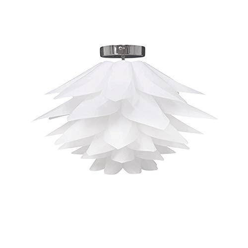 Lampara del Techo DIY Iluminacion del Puzzle Foco E27 Led Pantalla para Luz de Techo con Diseño Decorativo de Flor de Loto para Caféteria Restaurante Casa Habitacion