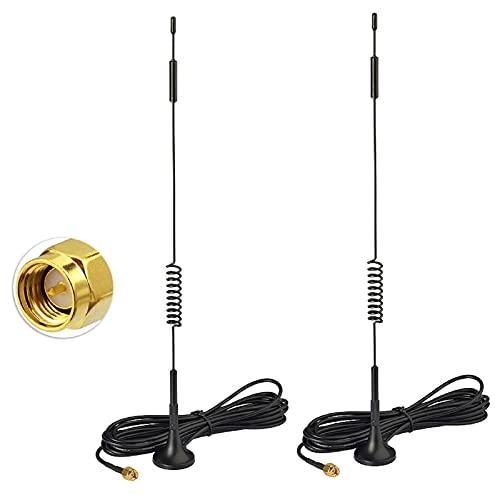 Bingfu 4G LTE Antenne 7dBi Magnetfuß MIMO SMA-Stecker Antenne (2 Stück) für Verizon AT&T T-Mobile Sprint Huawei Netgear 4G LTE-Router-Gateway Modem-Hotspot-Mobilfunk-Router-Gateway