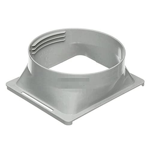 DriSubt Acoplador de manguera de escape portátil de 15 cm, adaptador de tubo de escape para aire acondicionado portátil (cuadrado a redondo)