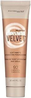 Maybelline New York Dream Velvet Soft-Matte Hydrating Foundation, Caramel, 1 fl. oz.