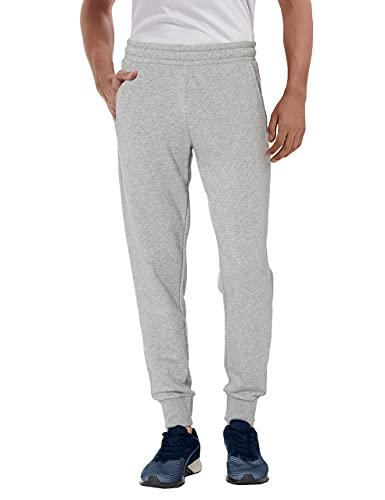 Herren Jogginghose Loose Fit Sporthose Jogginghose mit Taschen Lässige Loungehose für Trekking Workout Laufen Grau 2XL
