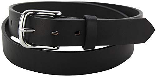 "Men's Black Leather Belt – Heavy Duty - Premium Quality Belt 1.25"" Wide, 54 Inch"