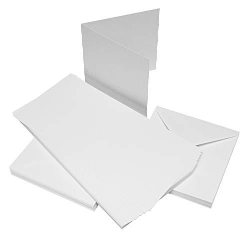 Craft UK C6 Deckle Edge Cards /& Envelopes Ivory Pack of 50   Line  285