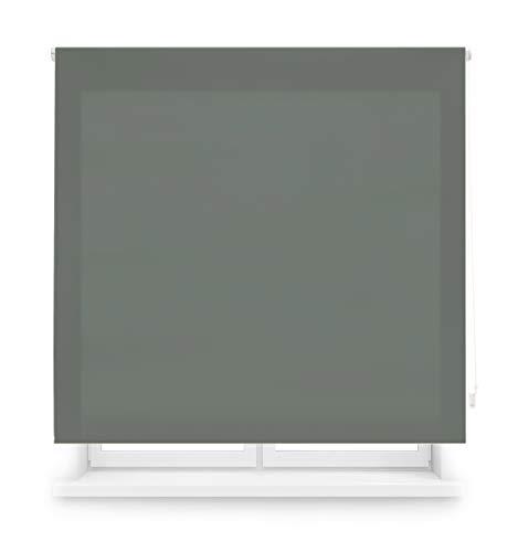 Blindecor Ara - Estor enrollable translúcido liso, Gris Pastel, 160 x 175 Cm (ancho x alto)