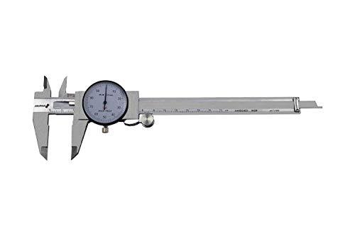 PAULIMOT Messschieber mit Uhr 0-150 mm, rostfrei INOX