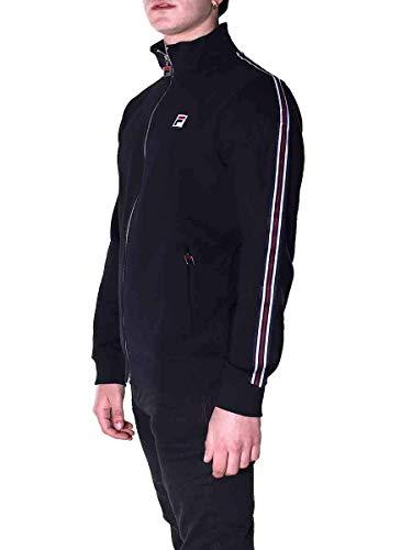 Fila Men Track Jacket Chaqueta de chándal Hemi de Hombre, Black, L