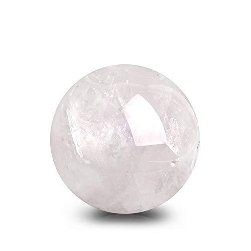WERWER Bola de Cristal Natural Bola de Cuarzo de Cristal Blanco Decoración del hogar Decoración de Color Energía de Color Minal de Piedra (Size : 63mm)