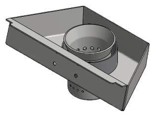 Braciere - Crogiolo in ghisa ORIGINALE CADEL per stufe a pellet cod. 4D24014524061