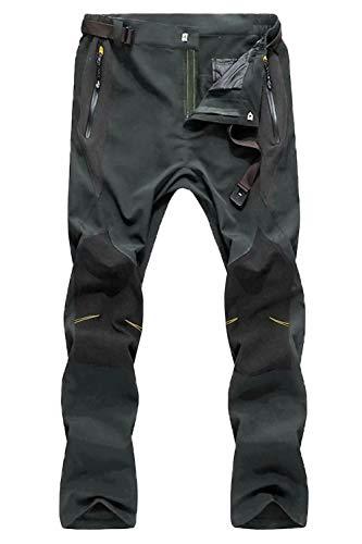 Work Pants for Men Waterproof Pants Men Zipper Pockets Rock Climbing Pants Camping Pants Fishing Pants for Men Hiking Pants Mens
