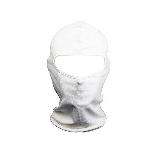 FENTI cara Máscara de protección Facekini diseño de cráneo talla única regulable para deportes exteriores ciclismo esquí snowboard Surf para bicicleta Moto bicicleta Airsoft y Paintball Blanco