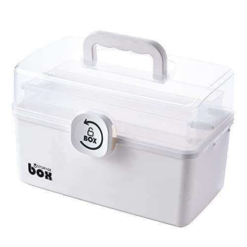Milageto Caja de Almacenamiento de plástico Suministros de artesanía de Oficina para el hogar Soporte para contenedores Organizador de píldoras cosméticas con