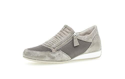 Gabor Zapatos bajos para mujer, zapatillas de mujer, ancho medio, plantilla intercambiable., color Beige, talla 42.5 EU