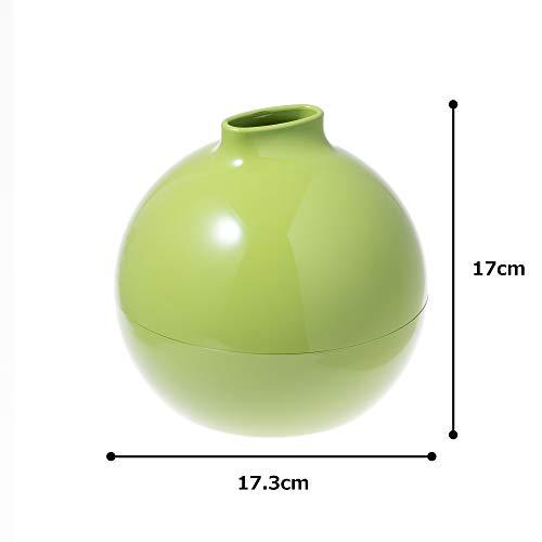 ティッシュケース ティッシュホルダー ティッシュボックス ペーパーポット Paper Pot ライトグリーン 18.8 x 18.6 x 18.2cm トイレットペーパー ティッシュ 対応 日本製 サンメニー