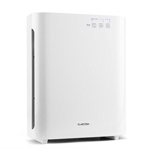 Vita Pure 2G 5-in-1 Luftreiniger Lufterfrischer Ionisator - 5-fach HEPA-Filter: 99,97{497980f0b38b61fb9c9a308c29972e4f1504d92de71992626032c17fdc2d5767} Filterleistung, 50 m², leise 30 db, 55 W, UV-C, Touch-Bedienfeld, weiß