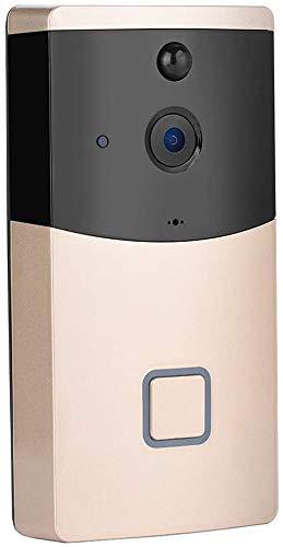 WHSS cámara Smart Wireless WiFi vídeo timbre de la puerta, la cámara HD 720P Seguridad for el Hogar con audio de dos vías de intercomunicación teléfono Anillo visión nocturna de detección de movimient