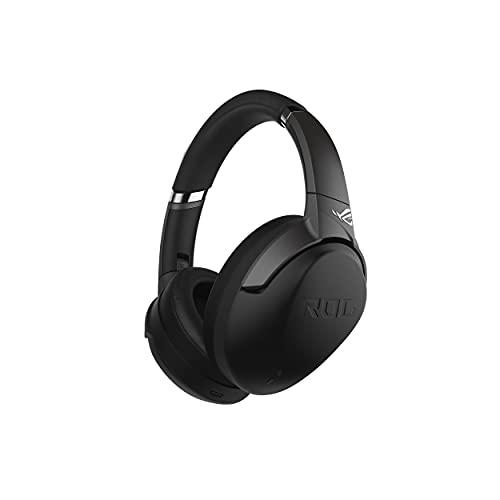 ASUS ROG STRIX GO BT è una cuffia gaming wireless Bluetooth, tecnologia audio adattiva Qualcomm aptX, tecnologia ANC, microfono AI Mic, bassa latenza e compatibilità con PC, Nintendo Switch e PS5