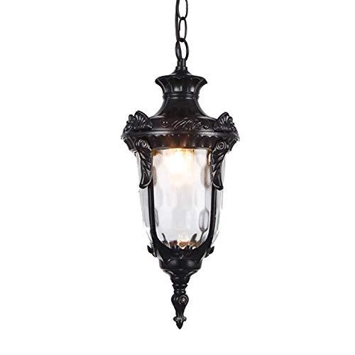 XZ15 Vintage industrie E27 Edison glazen lamp in de open lucht waterdichte tuin aluminium plafondlamp bevestigingen balkon Aisle gang kroonluchter